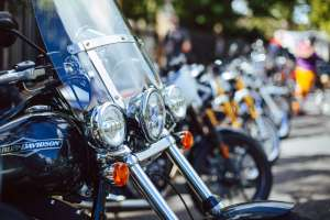 Harley-Davidson with a group of motorcycles