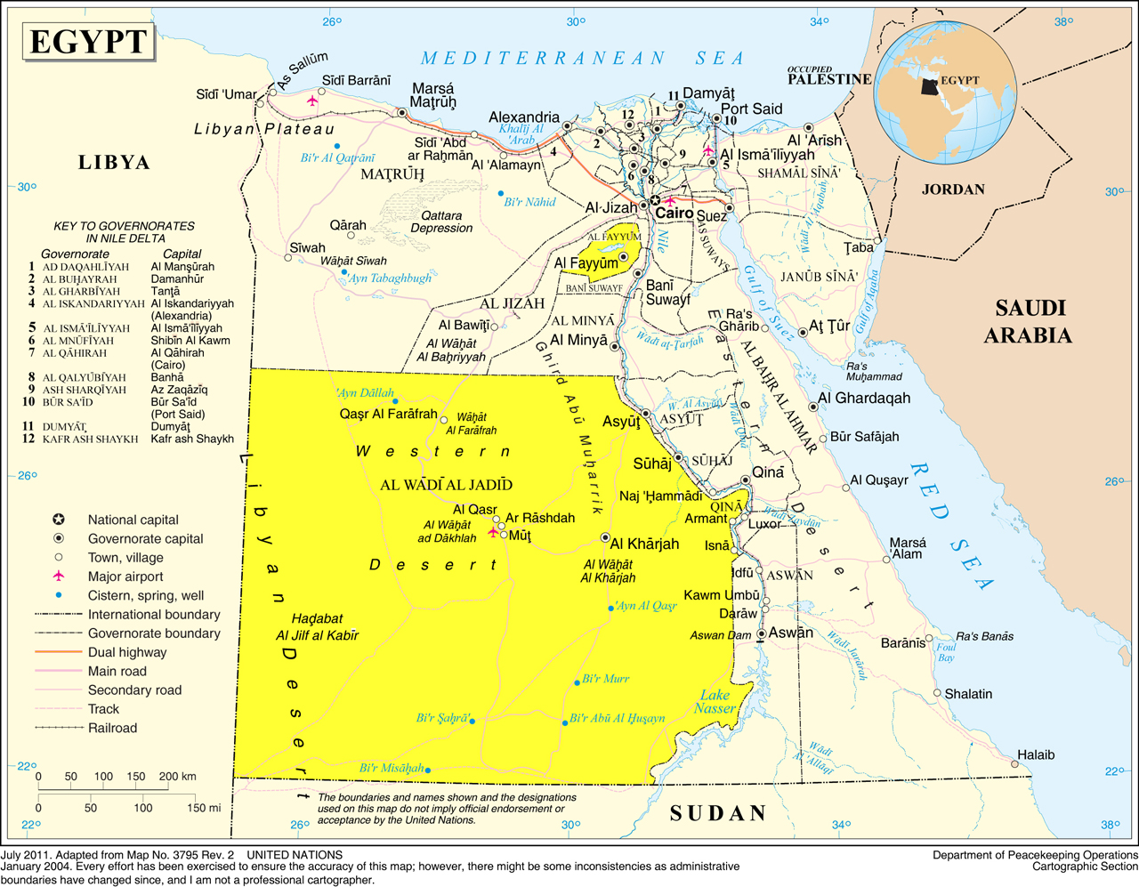 Map Libyan And Nubian Deserts
