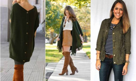 طرق تنسيق اللون الزيتي مع ملابس الشتاء الراقية
