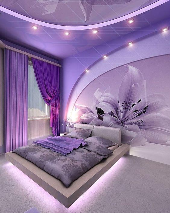 الوان حوائط غرف النوم الحديثه الراقية