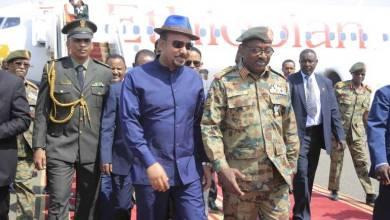 لحظة استقبال أبي أحمد رئيس وزراء أثيوبيا