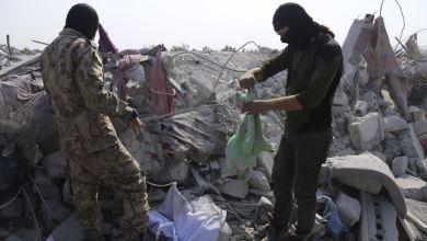 آثار القصف الأمريكي الذي استهدف البغدادي