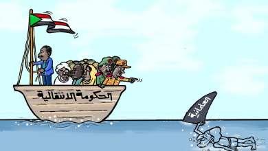 الصادق المهدي .. كاريكاتير عمر دفع الله