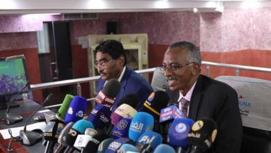وجدي صالح وأبراهيم الشيخ في مؤتمر صحفي بوكالة السودان للانباء