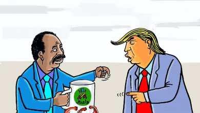 أمريكا تطالب حكومة حمدوك بدفع تعويضات عن جرائم الكيزان ... كاريكاتير عمر دفع الله