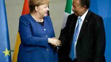 المستشارة الألمانية انجيلا ميريكل ورئيس الوزراء عبدالله حمدوك