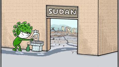 كورونا في السودان ... كاريكاتير عمر دفع الله