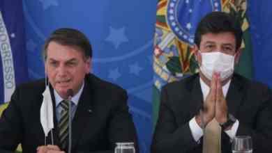 الرئيس البرازيلي ووزير الصحة Getty