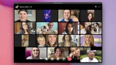 تتيح غرف ميسنجر إمكانية مشاركة ما يصل إلى 50 شخصاً في مكالمة الفيديو الواحدة Facebook