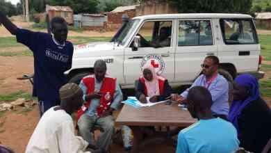 زيارة جمعية الهلال الاحمر السوداني بالتعاون مع اللجنة الدولية للصليب الاحمر الي ولاية جنوب كردفان