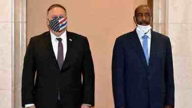 البرهان ووزير الخارجية الأمريكية مايك بومبيو