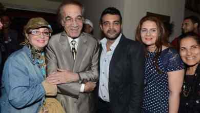 الفنان المصري الراحل محمود يسن وعائلته