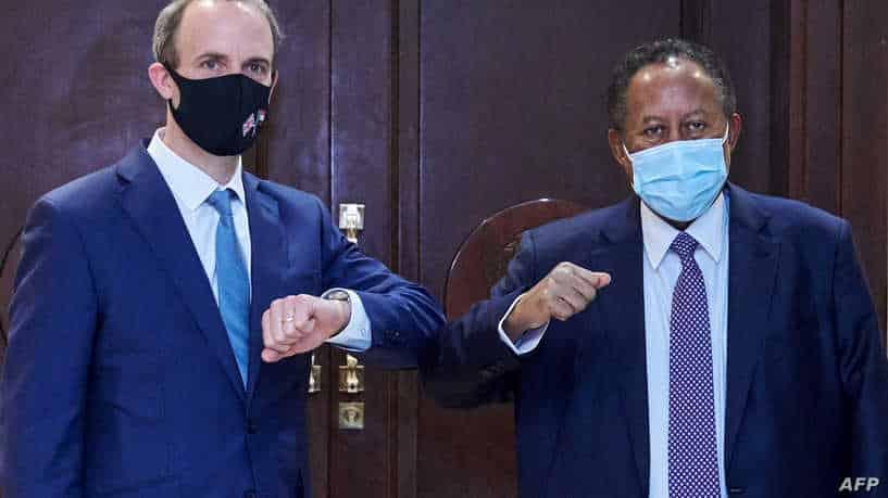وزير الخارجية البريطاني التقى مسؤولين سودانيين بينهم حمدوك