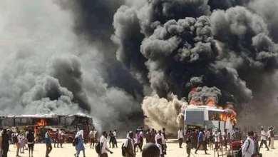 مظاهرات شمال كردفان الابيض - حرق ونهب