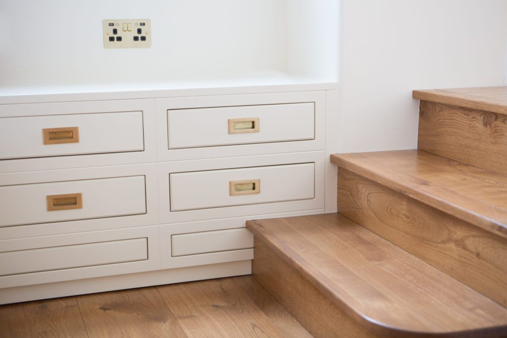 Staircase and Drawers