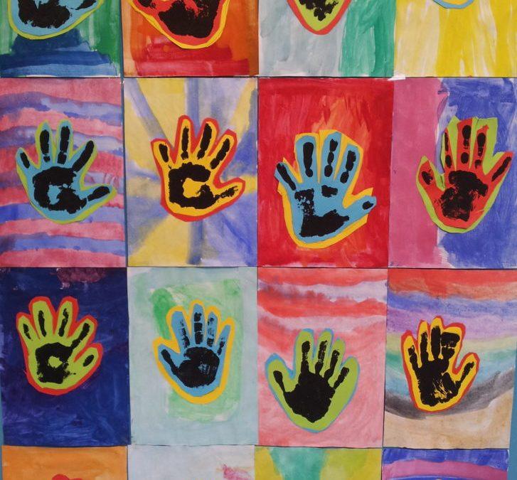 Kunstprojekt ICH und WIR der Klasse 5a