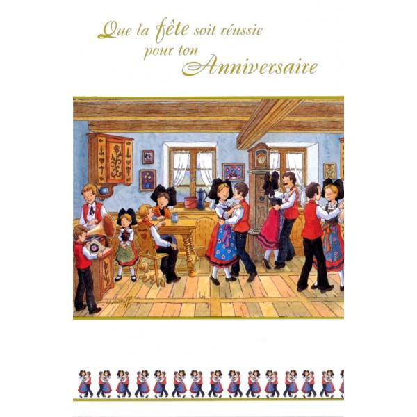 Carte De Voeux Alsace Ratkoff Fte DAnniversaire