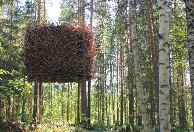 "Le ""Bird's Nest Tree House"" en Suède - Photo : Boredpanda.com"