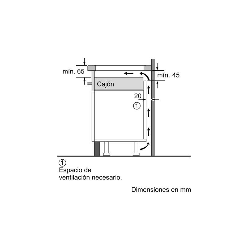 Encimera BOSCH PXJ651FC1E Induccin Negro Zonas