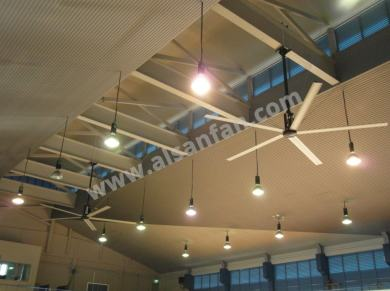 school hall hvls fan