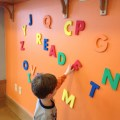 Magnetic paint transformed this wall when not in use the foam