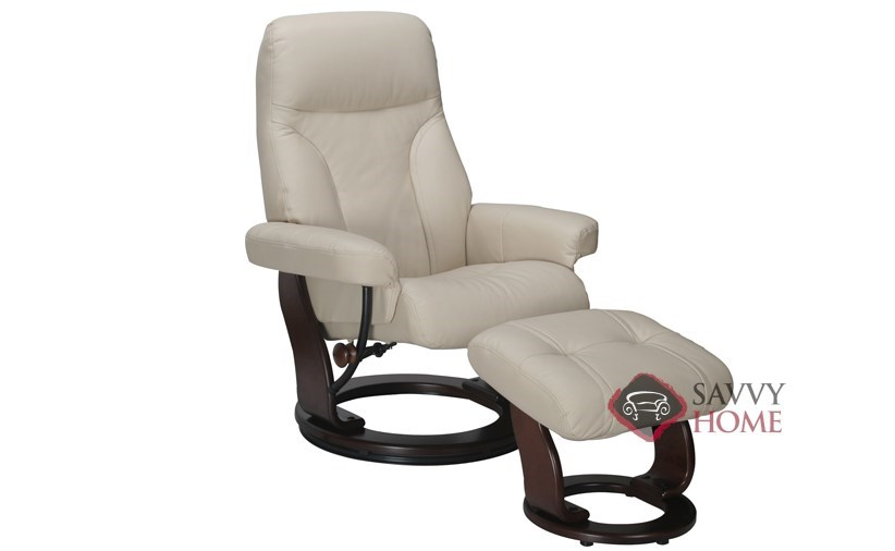 reclining chair with ottoman leather revolving parts delhi quick-ship milano in top-grain black for benchmaster by ...