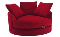 Cuddle Circle Fabric Swivel Chair by Lazar Industries is ...