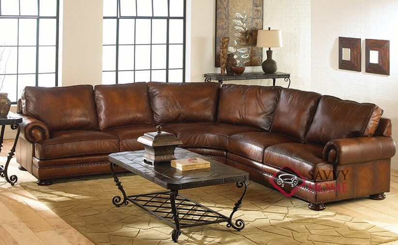 Foster By Bernhardt Leather True Sectional Is Fully : bernhardt foster sectional - Sectionals, Sofas & Couches