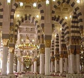 tiang masjid nabawi