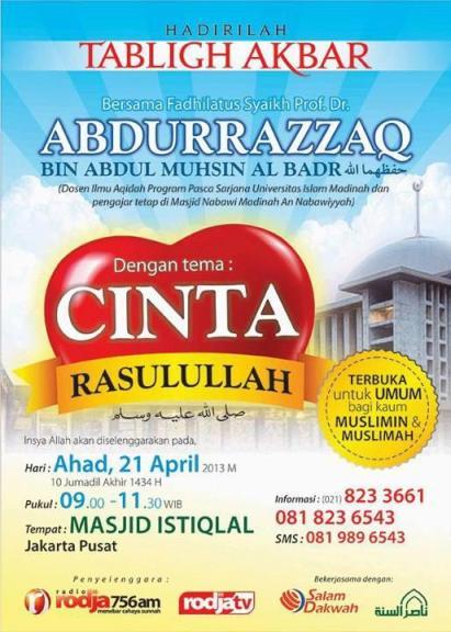 Tabligh Akbar Syaikh Abdurrozzaq Masjid Istiqlal