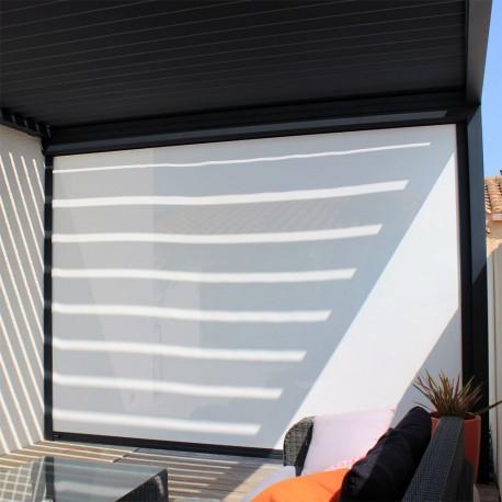 rideau motorise pour pergola bioclimatique architect alsol