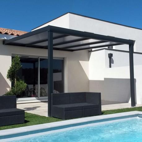 pergola toit polycarbonate ou thermotop sur mesure en aluminium