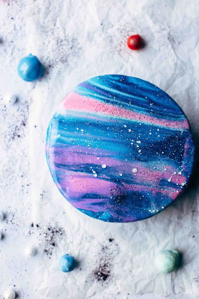 How To Make A Mirror Glaze Galaxy Cake
