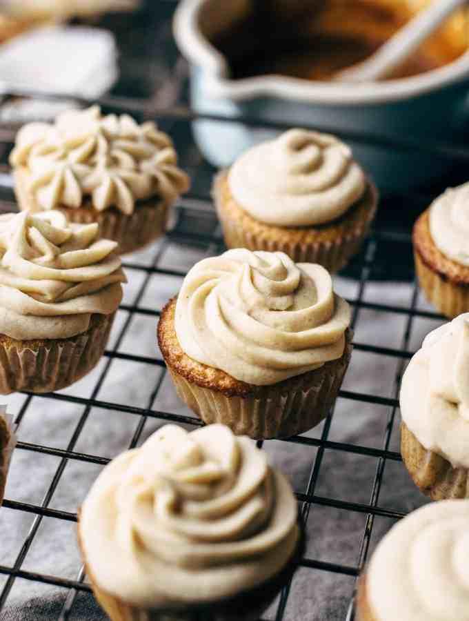 Salted Caramel Vanilla Cupcakes