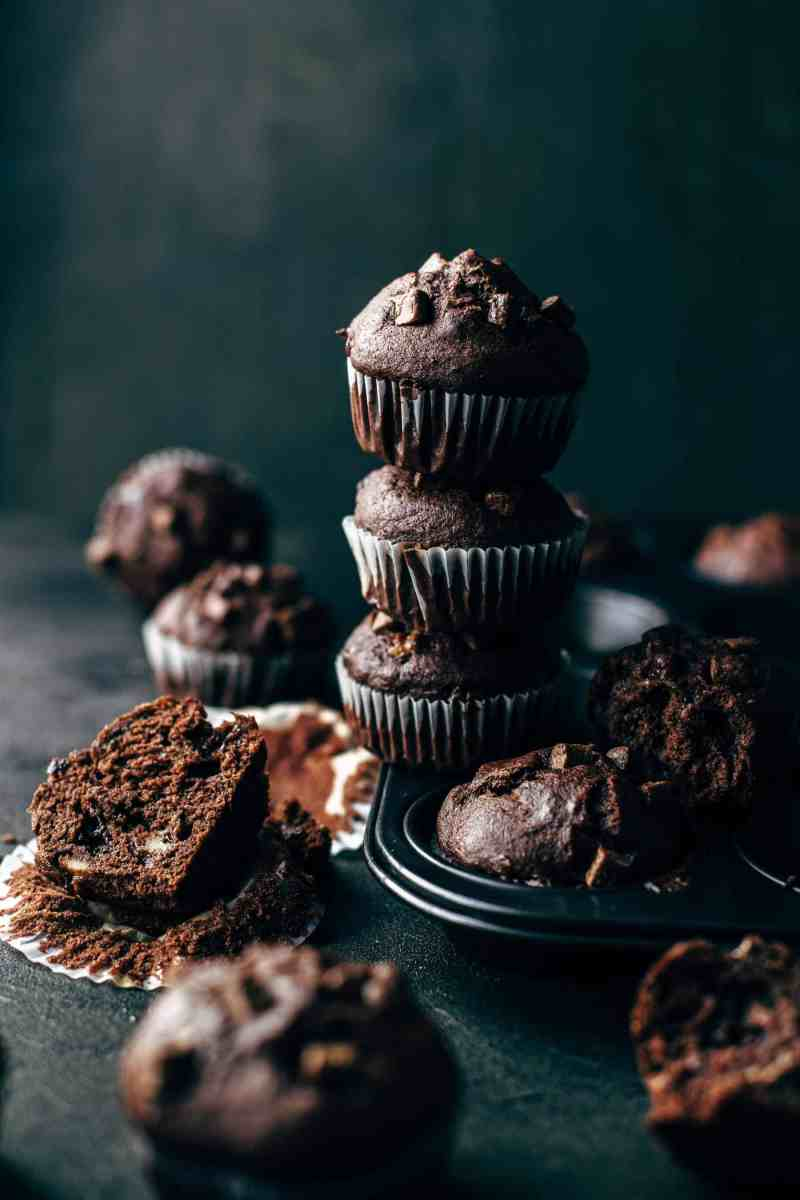 Soft and Moist Chocolate Banana Muffins