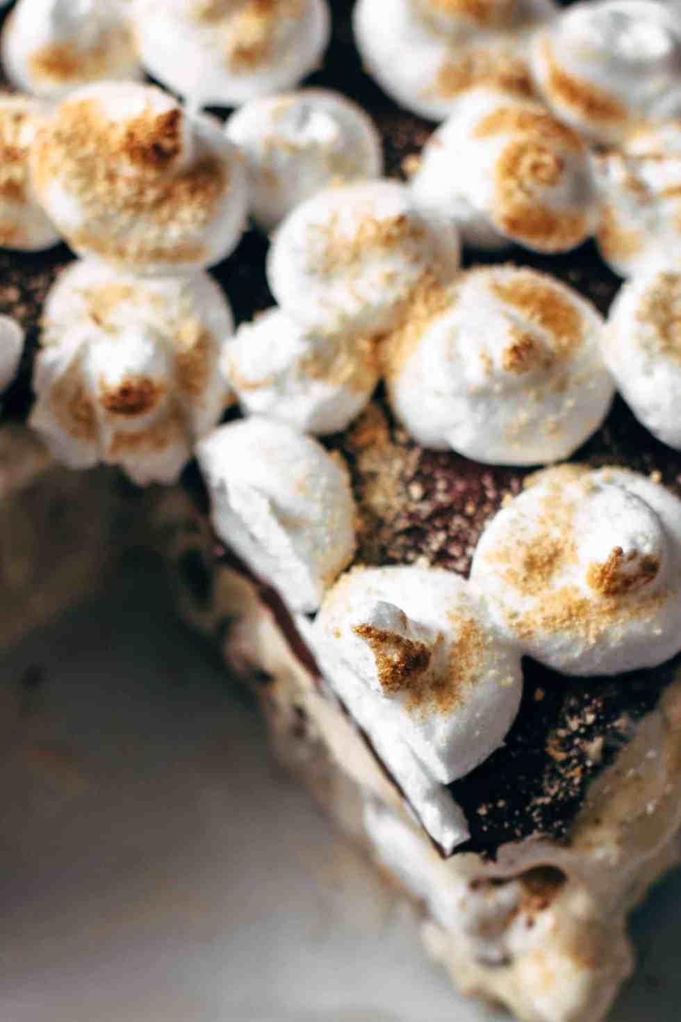 Peanut Butter S'mores Ice Cream Cake Recipe