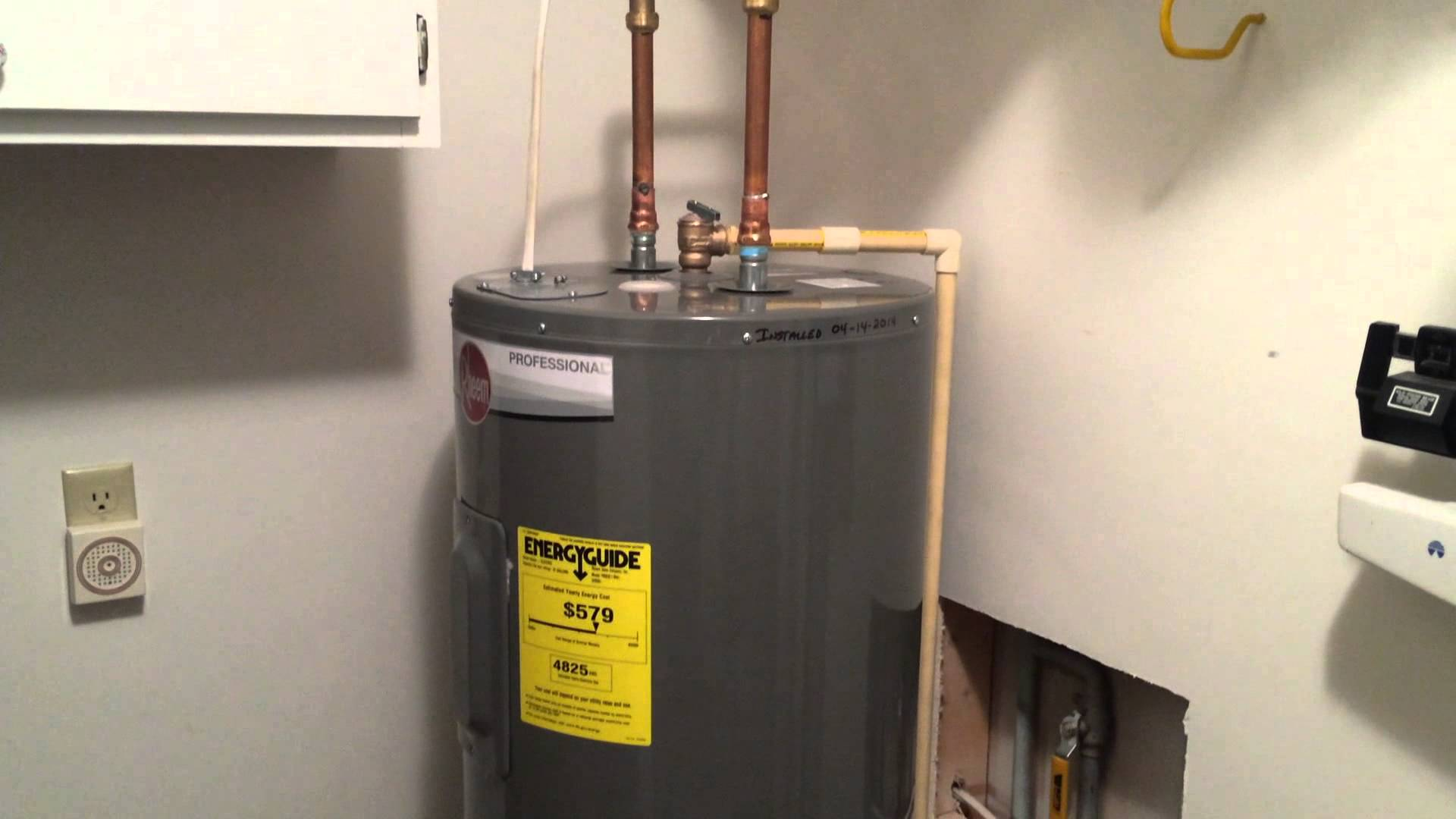 rheem electric water heater wiring diagram 2 lights off one switch professional series versus