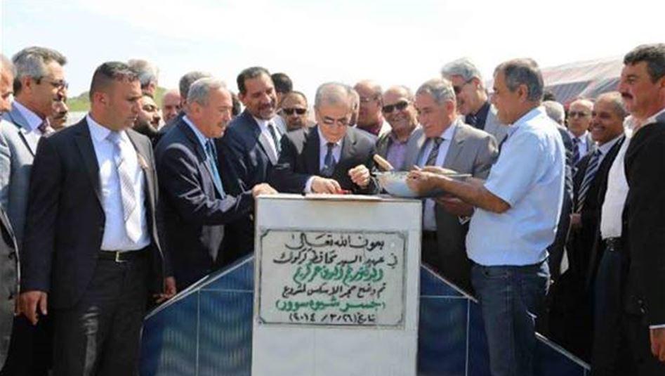 المباشرة بتنفيذ مشروع جسر شيوة سور الاستراتيجي بكلفة 11 مليار دينار شمال كركوك