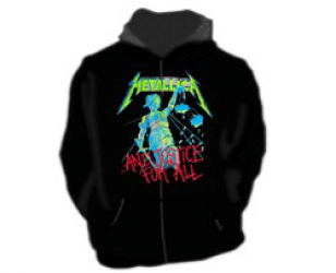 Hoodies AND JUSTICE FOR ALL ZIPPER Metallica