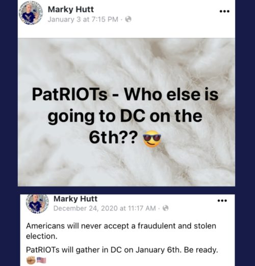 Hutt's posts to the LGBTrump page in addition to his own, pledging that America