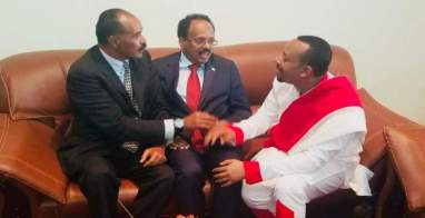 آبي أحمد وأفورقي وفرماجو يتفقون على إحلال السلام في القرن الأفريقي