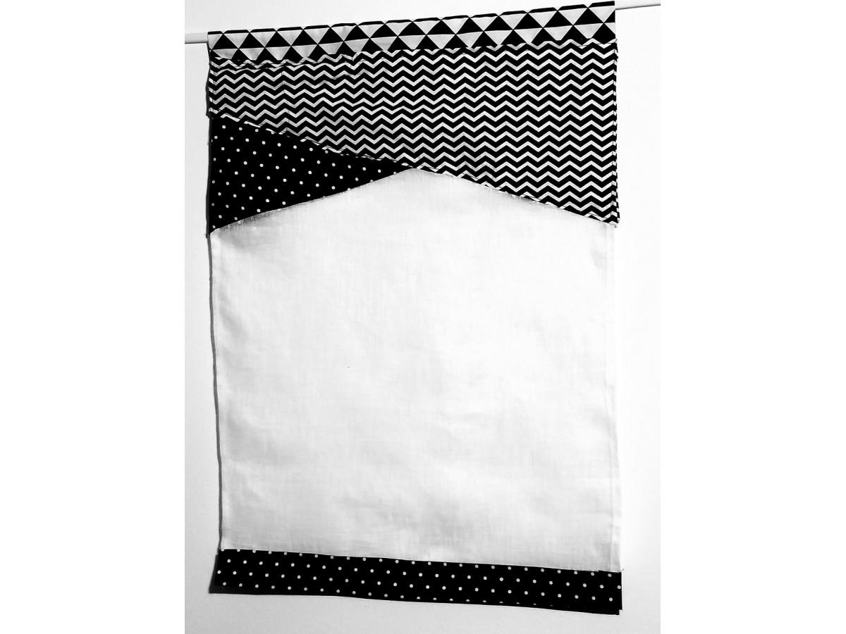 details sur rideau brise bise asymetrique lamba neuf