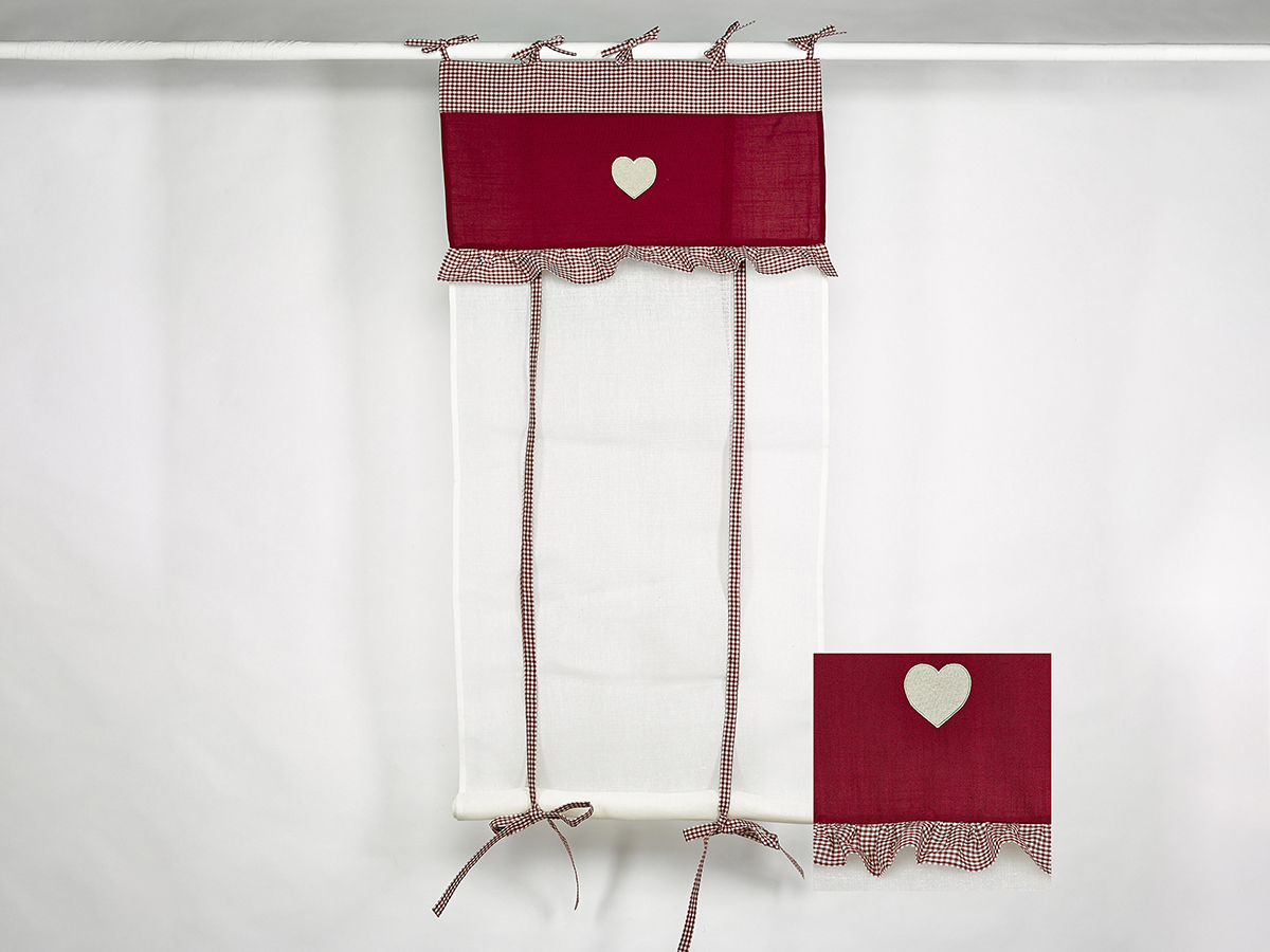 rideau store a cantonniere rouge simla neuf ebay