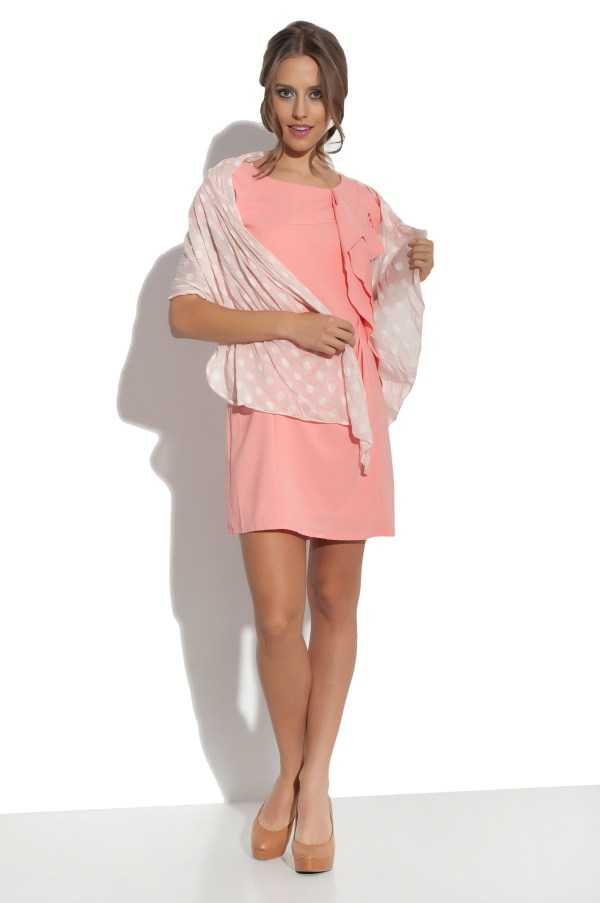 Sukienka mini z falbana Fervent modelka front