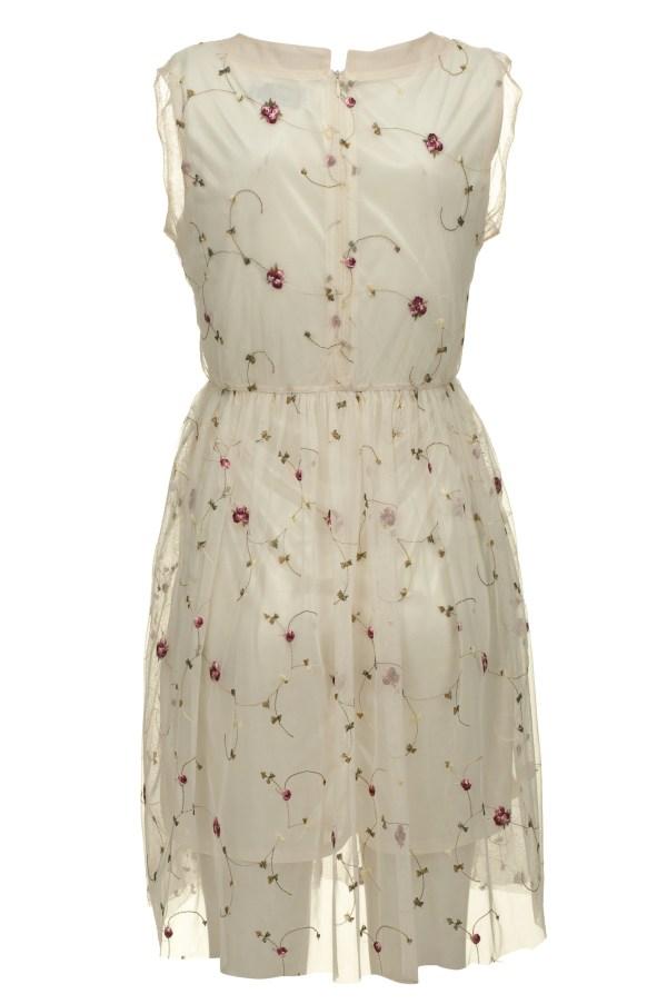 Sukienka tiulowa mini haftowana Crazy Daisy packshot back