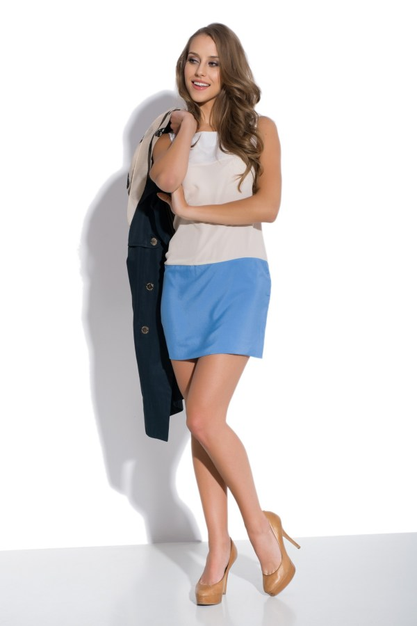 Sukienka trójkolorowa mini Caprice