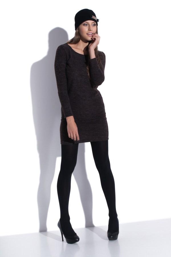 Robe mini d'automne avec manches longues model front