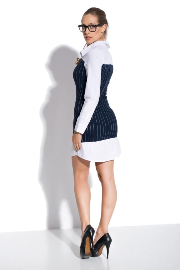 Sukienka mini koszulowa z gorsetem model back