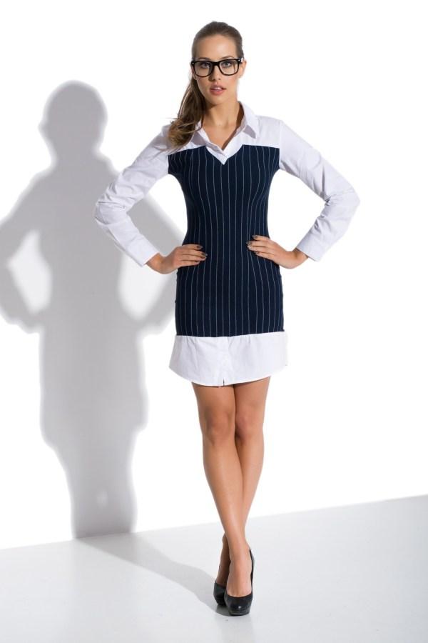 Sukienka mini koszulowa z gorsetem model front2
