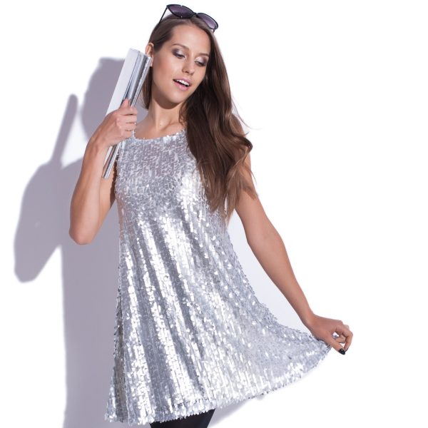 Robe à paillettes sans manches Moonlight